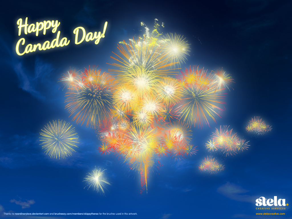 Canada Day Wallpaper by Stela Creative