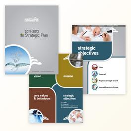 Courthouse Libraries Strategic Plan Brochure Design