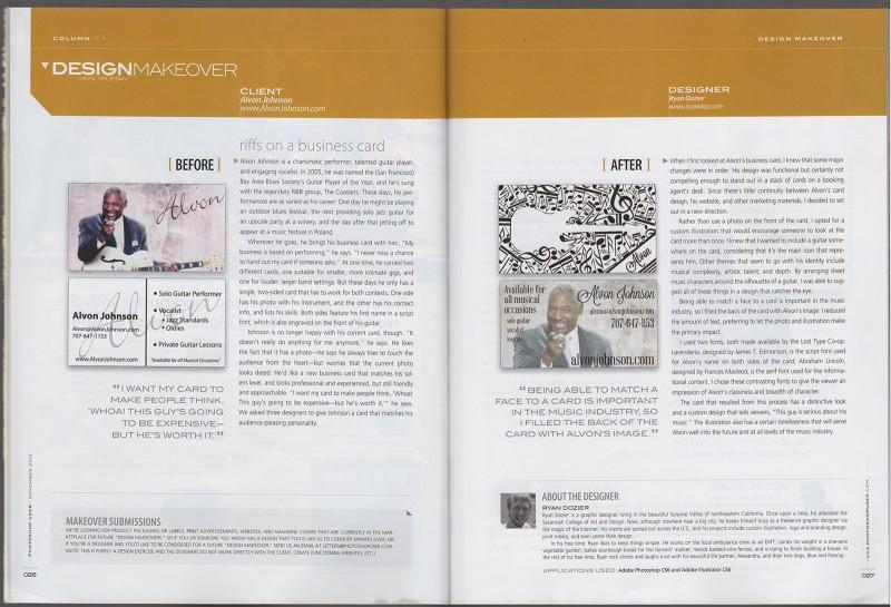 Photoshop User Magazine November 2013, Design Makeover