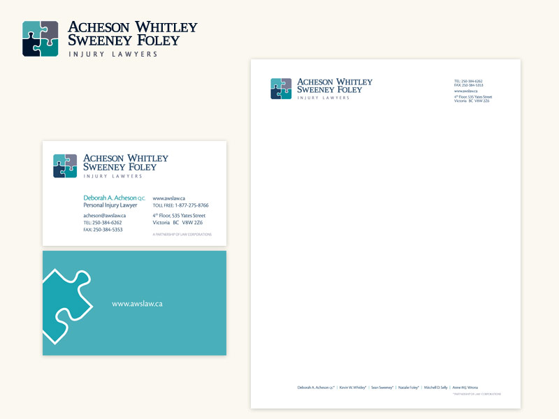Acheson Whitley Sweeney Foley Brand & Collateral Design