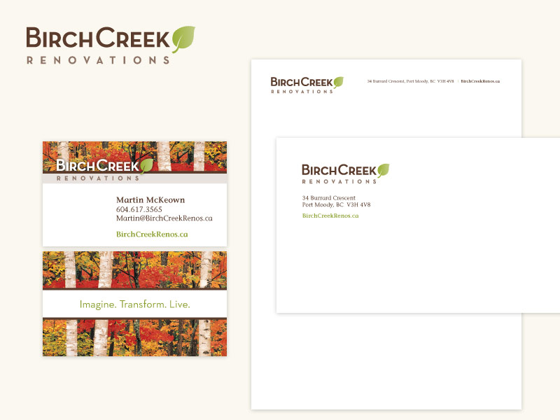 BirchCreek Renovations Brand & Collateral Design