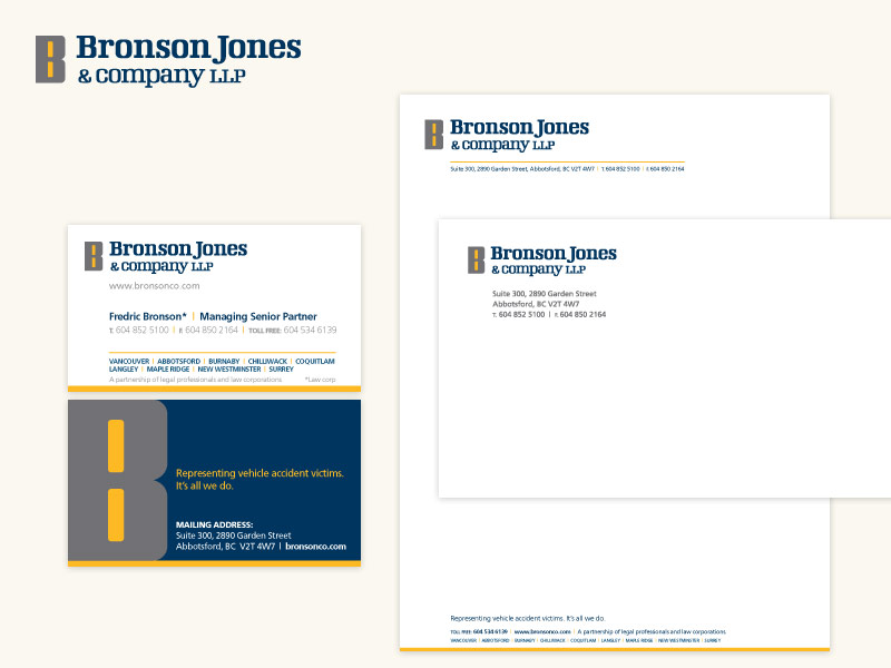 Bronson Jones & Co. LLP Brand & Collateral Design