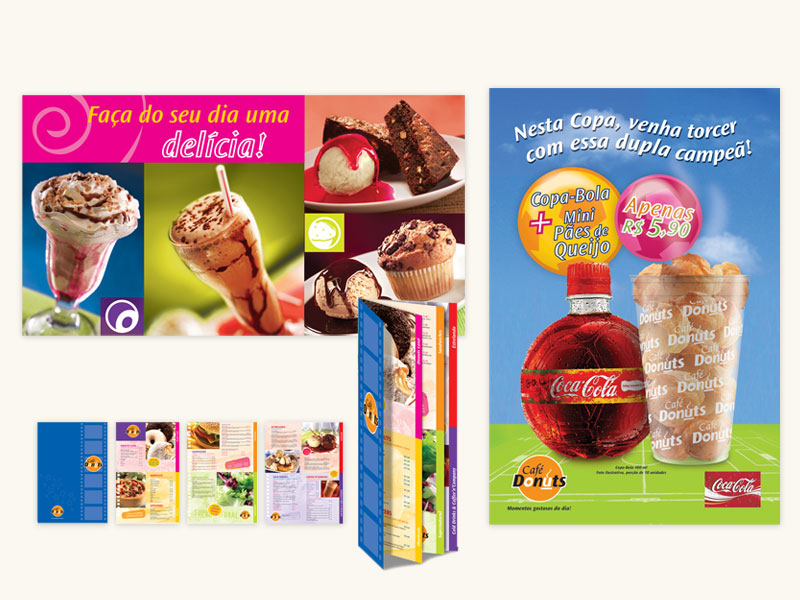 Café Donuts Poster, Banner and Menu Design