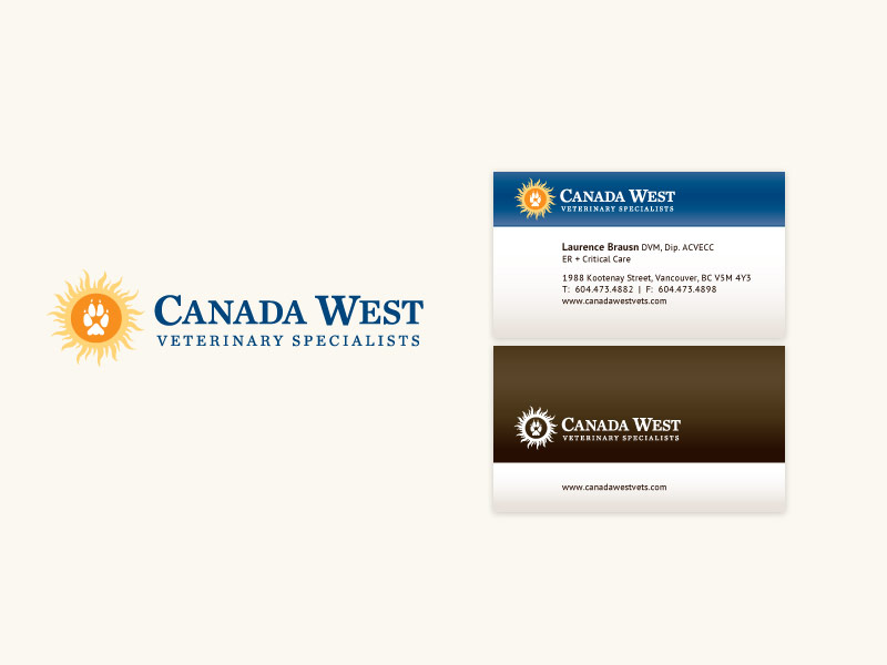Canada West Veterinary Specialists Brand & Collateral Design