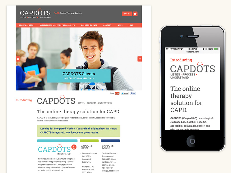 CAPDOTS Website (WordPress, Responsive)