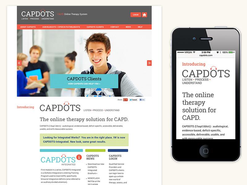 CAPDOTS Website (WordPress, Responsive)