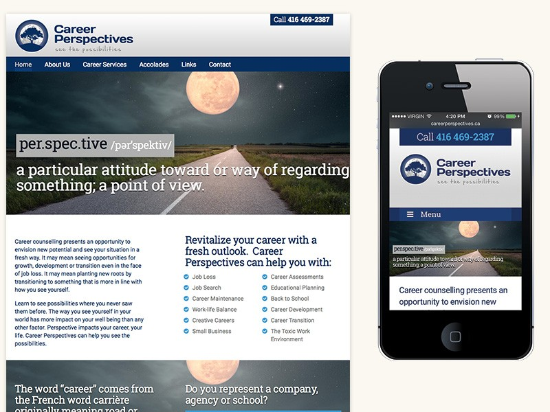 Career Perspectives Website Design & Development
