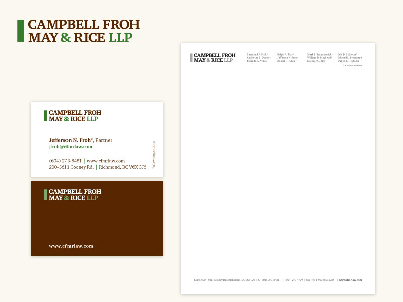 Campbell Froh May & Rice LLP Brand & Collateral Design