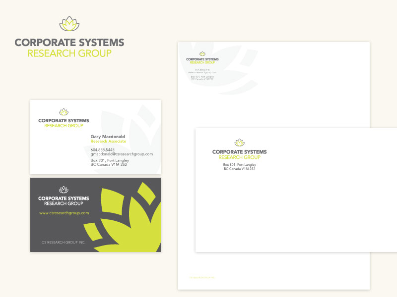 Corporate Systems Research Group Brand & Collateral Design