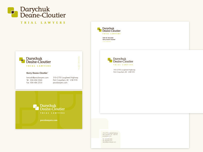 Darychuk Deane-Cloutier Lawyers Brand & Collateral Design