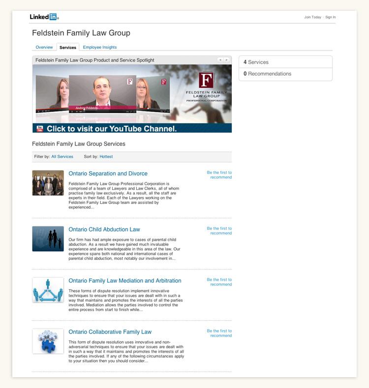Feldstein Law Linkedin Page