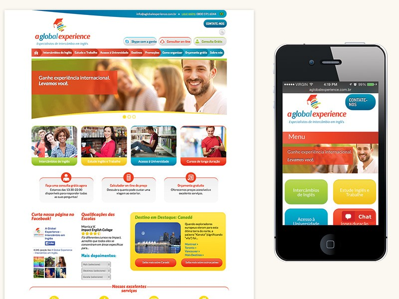 A Global Experience Website Design