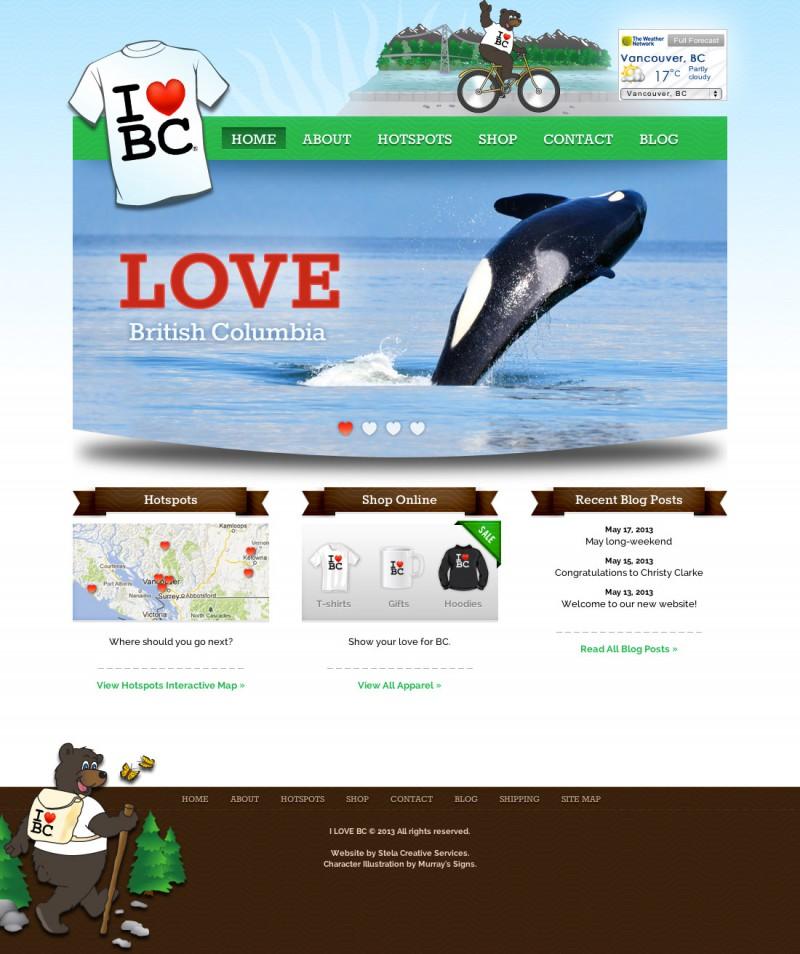 I LOVE BC Website