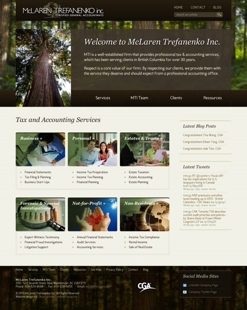 McLaren Trefanenko Inc. Website