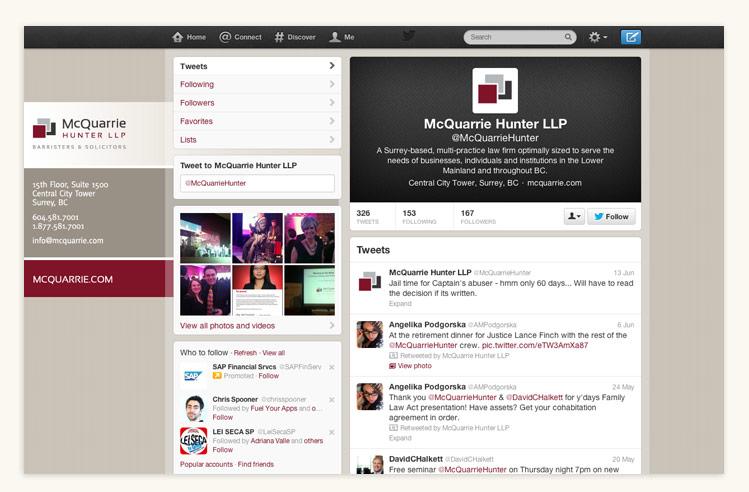 McQuarrie Hunter LLP Twitter