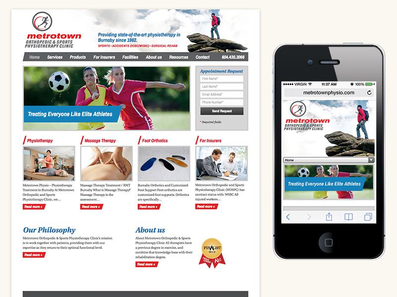 Metrotown Physio Responsive Website