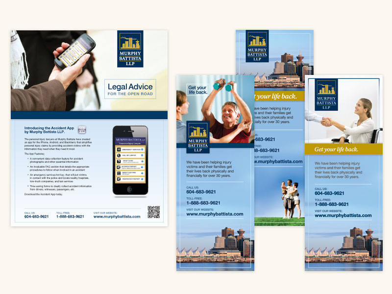 Murphy Battista LLP Banner Stands and Print Ad