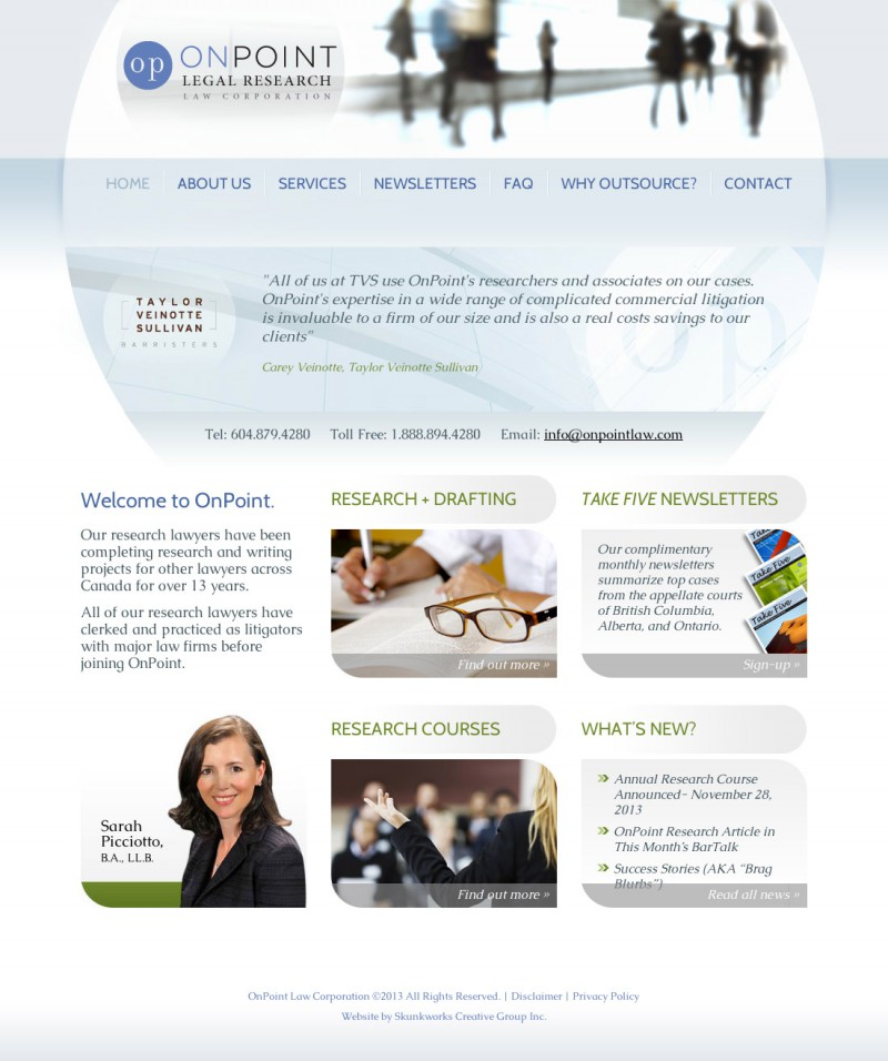 Onpoint Legal Research Website