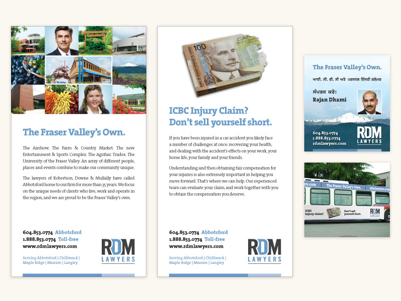 RDM Lawyers Print Ads