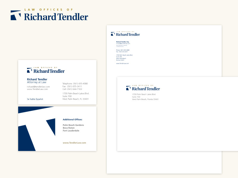 Law Offices of Richard Tendler Brand & Collateral Design
