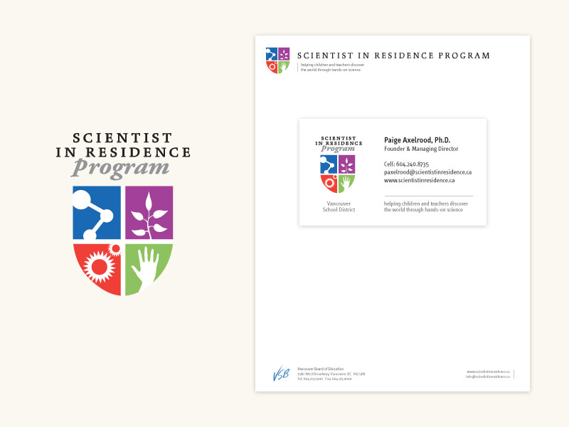 Scientist in Residence Program Brand & Collateral Design