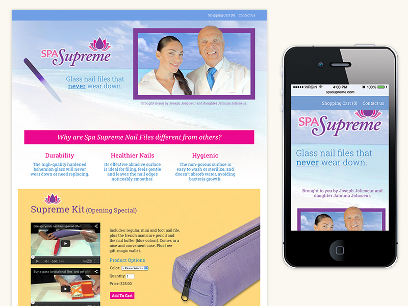 Spa Supreme Website (WordPress, Responsive)
