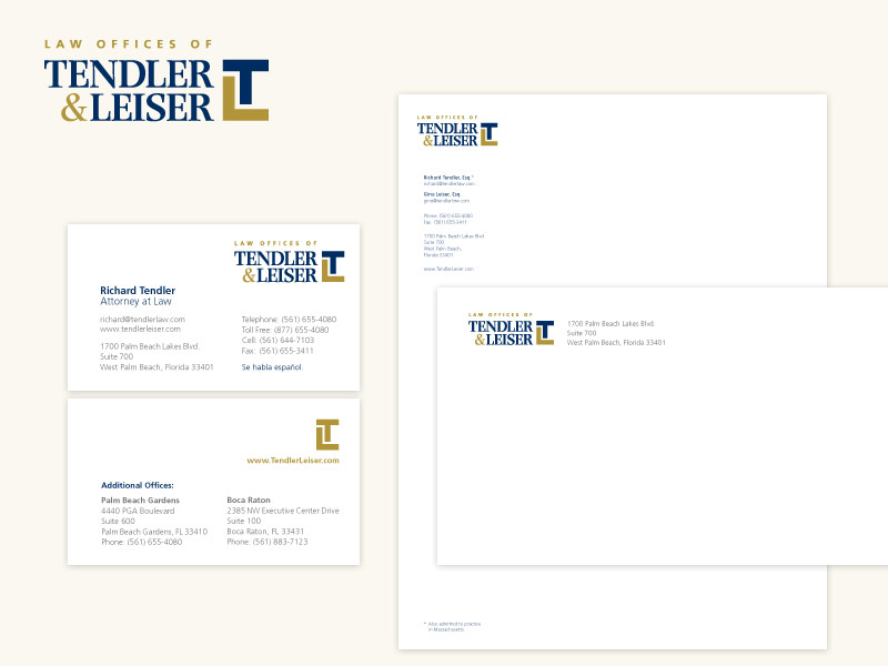 Law Offices of Tendler & Leiser Brand & Collateral Design