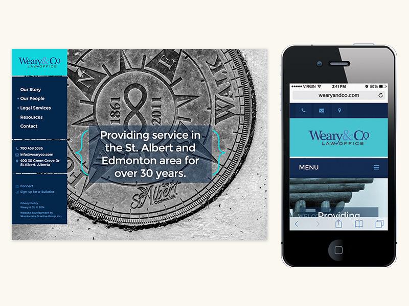 Weary & Co Website (WordPress, Responsive)